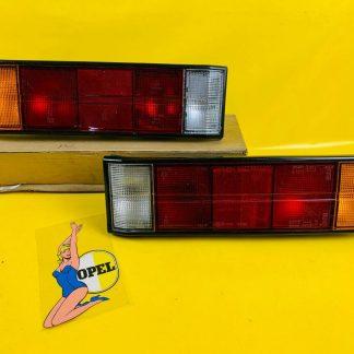 NEU ORIG GM Opel Rekord E1 Commodore C Rücklicht PAAR schwarzer Rand Rückleuchte