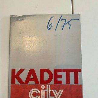 ORIGINAL OPEL Broschüre + Werksfotos, Presseinfo 75 Opel Kadett City