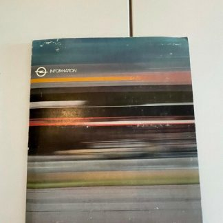 ORIGINAL OPEL Broschüre + Werksfotos, Presseinfo 20. Millionenster Opel