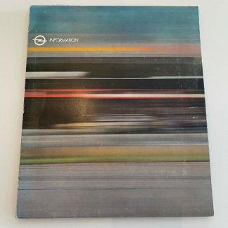 ORIGINAL OPEL Broschüre+ Werksfotos, Presseinfo Kadett GTE Rekord CD Pressemappe