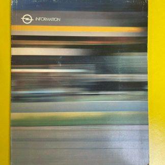 ORIGINAL OPEL Broschüre + Werksfotos, OPELtester Pressemappe 1986