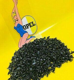 NEU 30x SCHWARZE Halteclip Clip Tür Gummi für Opel Kadett A B C / Olympia A GT