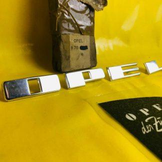 NEU + ORIGINAL OPEL Olympia Rekord P2 Emblem Chrom Buchstaben Motorhaube NOS
