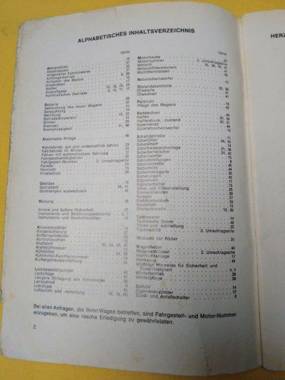 ORIGINAL Opel Rekord C 1.Serie Bedienungsanleitung Betriebsanleitung Handbuch