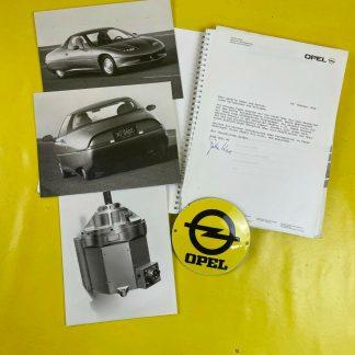 ORIGINAL OPEL Broschüre + Werksfotos, Modelle 1990 u.a. Irmscher, Senator, Lotus