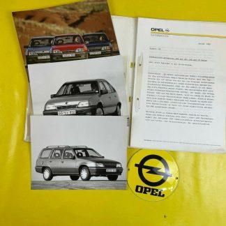 ORIGINAL OPEL Broschüre + Werksfotos, Modellbeschreibung Kadett E, Händler,