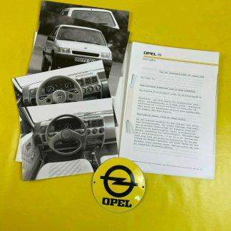 ORIGINAL OPEL Broschüre + Werksfotos, Corsa A, GSi,City, Joy, Prospekt, Sammler,