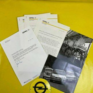 ORIGINAL OPEL Broschüre + Werksfotos, Modellende Kadett E / Kadett A, Prospekt