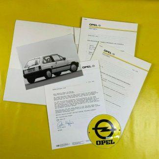 ORIGINAL OPEL Broschüre + Werksfotos Modelle 1991, Corsa A, Vectra A, Omega A