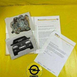 ORIGINAL OPEL Broschüre + Werksfotos Kadett E, Motor C20XE GSi 16 V, Prospekt,