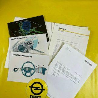 ORIGINAL OPEL Broschüre + Werksfotos Airbag Vectra A , Prospekt, Sammler,