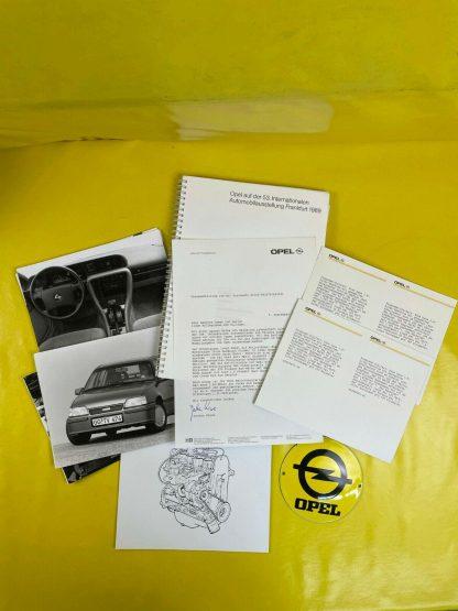 ORIGINAL OPEL Broschüre + Werksfotos IAA 1986 Opel Produktpalette
