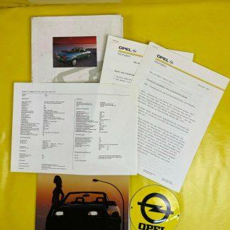 ORIGINAL OPEL Broschüre + Werksfotos Astra F Cabrio GSi 16V Turbo Kabriolett