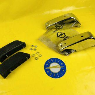 NEU + ORIGINAL Opel Ascona A Paar Stoßstangenhörner Stoßstange hinten + Puffer