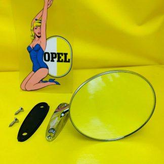 NEU Chrom Spiegel Außenspiegel links Opel Rekord C Commodore A Kadett B GT Oly A