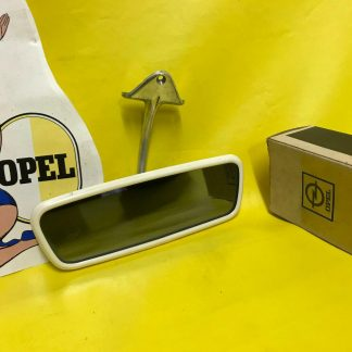 NEU + ORIGINAL OPEL Kadett B 1.Serie Spiegel Innenspiegel Glas getönt chrom NOS