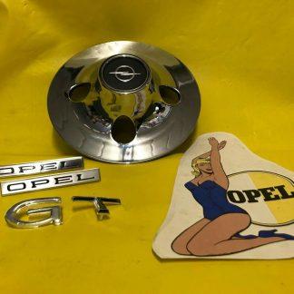 NEU + ORIGINAL OPEL Radkappe GT 1,9 A / L Chrom Schriftzug GT Schriftplatte Opel