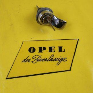 NEU + ORIGINAL Opel Kadett A Schloß inkl. Schlüssel chrom Kofferdeckel