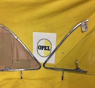 NEU ORIG Opel Kapitän 1954 1957 Rahmen Ausstellfenster Chrom + Glasscheibe NEU