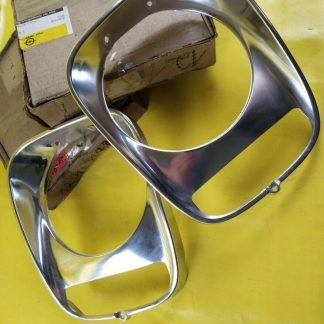 NEU + ORIG Opel Kadett B Olympia A Paar Zierringe Chrom Scheinwerfer Blinker
