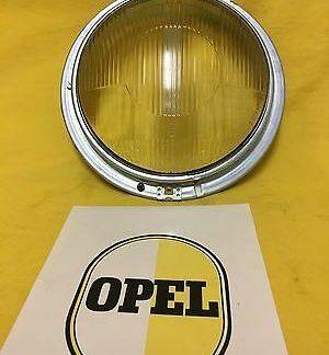 NEU + ORIG Opel Olympia Rekord P1 Scheinwerfer Streuscheibe Glas Tragrahmen