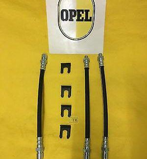 NEU Bremsschlauch Satz vorne + hinten Opel GT 1,1 + 1,9 A L inkl Haltespangen