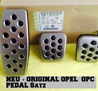 Cascada Pedal Satz OPC Line polierter Edelstahl Sport Cabrio Set