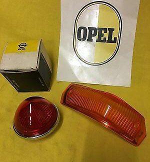 NEU + ORIG OPEL Olympia Rekord P2 SATZ Rücklichtglas + Blinkerglas Rücklicht NOS