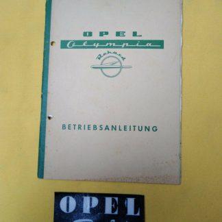 ORIGINAL Opel Olympia Rekord 1953 Betriebsanleitung Bedienungsanleitung Handbuch