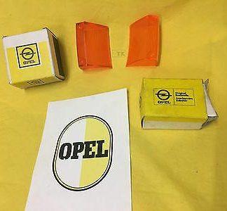 NEU + ORIGINAL Opel Rekord C Commodore A Blinkergläser Blinker Glas Satz vorne