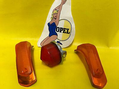 NEU + ORIG OPEL Olympia Rekord P2 COUPE Rücklichtglas + SATZ Blinkerglas re + li