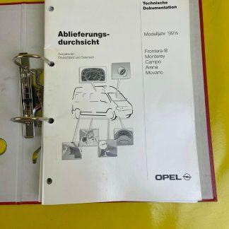 ORIGINAL Opel Broschüre+ Dokumentation 99,5 Astra G Zafira Frontera B Monterey