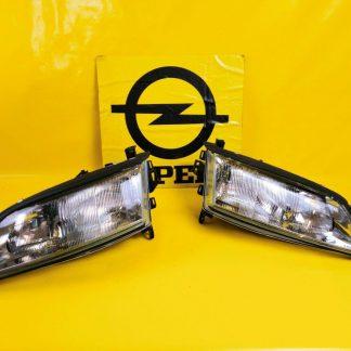 NEU + ORIG GM Opel Vectra B Scheinwerfer Paar CARELLO Hauptscheinwerfer
