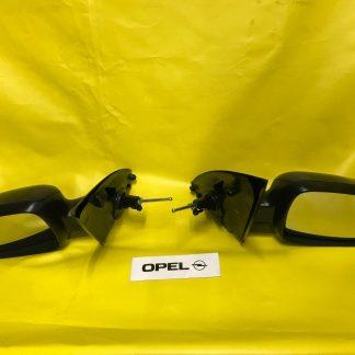 NEU Aussenspiegel SATZ Opel Corsa C + Combo schwarz kpl mit Glas und Abdeckung