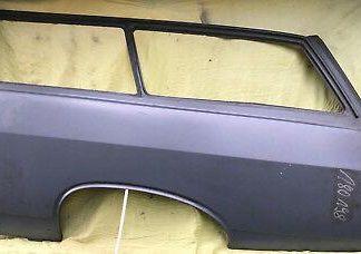 NEU Seitenwand Seitenteil li Opel Rekord A / B Caravan Radlauf Blech Endspitze