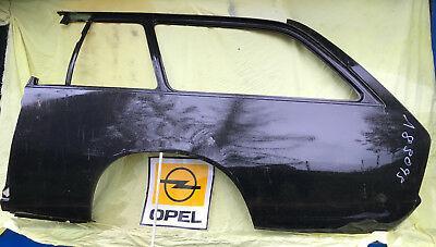 NEU ORIG Seitenwand Seitenteil li. kpl Opel Rekord D Blech Endspitze Kotflügel
