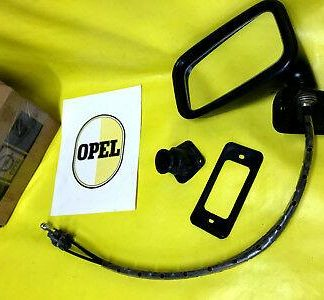 NEU + ORIG Opel Außenspiegel links Kadett C innenverstellbar Spiegel schwarz NOS