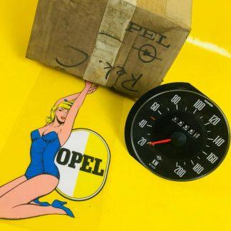 NEU + ORIG Opel Rekord C Tacho bis 200 Km/H Wegdrehzahl = 628 / 632 Tachoeinheit
