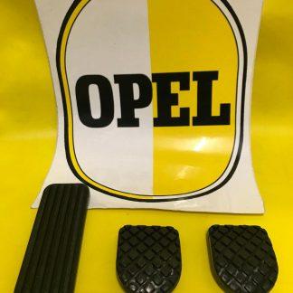 NEU Satz Pedalgummi Opel Kadett B Olympia A Gaspedal Bremse Kupplung Gummi SET