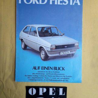 ORIGINAL Ford Fiesta Datenblatt techn. Daten Betriebsanleitung Handbuch