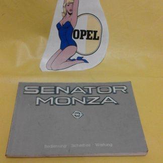 ORIG OPEL Betriebsanleitung Serviceheft Handbuch Senator Monza