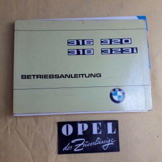 ORIGINAL BMW Betriebsanleitung Serviceheft Handbuch 316 318 320 320i Aufl.6