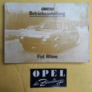ORIGINAL Fiat Betriebsanleitung Serviceheft Handbuch Fiat Ritmo