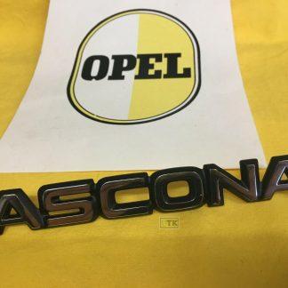NEU + ORIG Opel Emblem Kofferdeckel Ascona B chrom schwarz SR Rallye CiH Zeichen