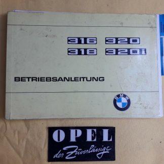 ORIGINAL BMW Betriebsanleitung Serviceheft Handbuch 316 318 320 320i Aufl.4
