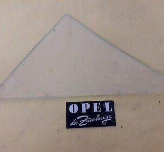 NEU + ORIGINAL Opel Rekord A + B 4-türer Scheibe Fenster Tür vorne links