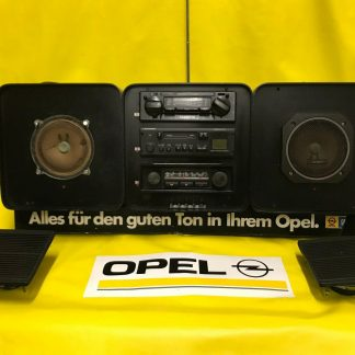 ORIGINAL OPEL Radio + Lautsprecher Vorführgerät BECKER MONZA Blaupunkt Oldtimer