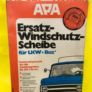 NEU ORIGINAL APA Ersatz Winschutzscheibe Oldtimer LKW + Bus UNIVERSAL bis 230x85