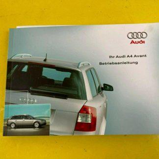 Original Audi A4 Avant Betriebsanleitung