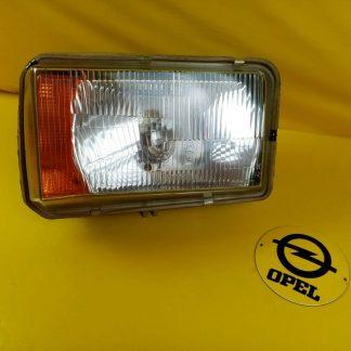 NEU + ORIGINAL Opel Rekord D Scheinwerfer komplett Gehäuse Blinker Glas rechts